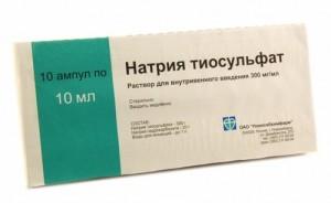Использование натрия тиосульфата от псориаза