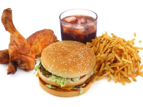 жареная и вредная пища