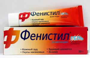 Фенистил при дерматите: гель и капли