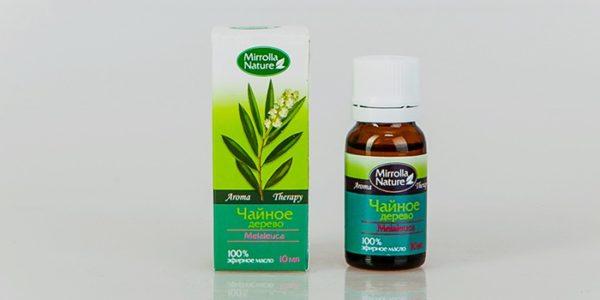 масло чайного дерева в аптечной упаковке