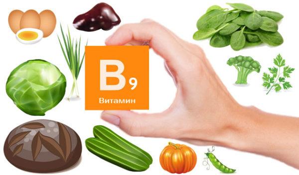 продукты и Витамин В9