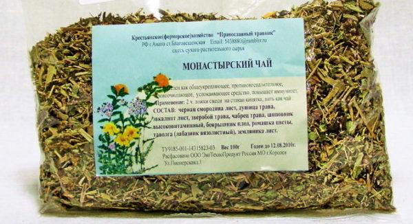 сушеная трава в пакете с этикеткой