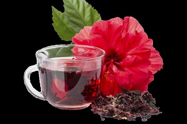 кружка с чаем и цветок
