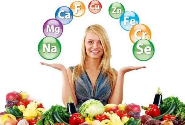 витамины овощи и женщина