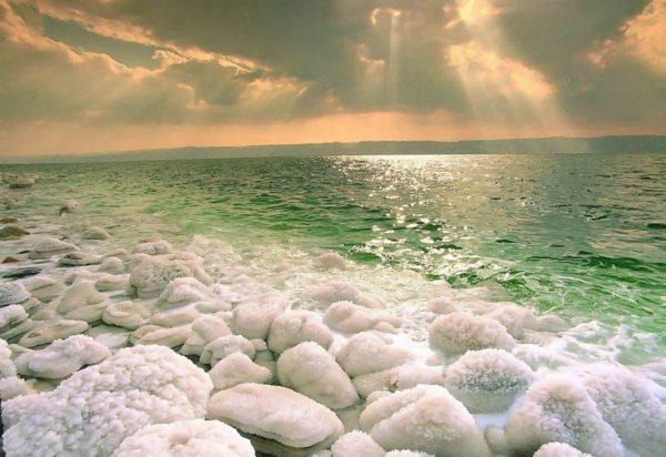 солёный берег моря